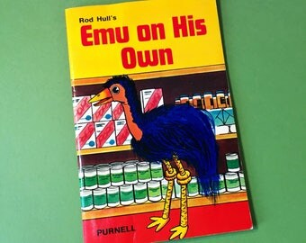 Rod Hull And Emu - Emu On His Own - Vintage Book - 1970s - Vintage Kids TV - Rod Hull's Emu - Emu Book