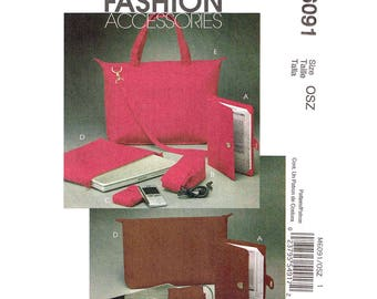 Device Case Pattern McCalls 6091 Tote, Laptop Cases, Cord Cases, PDA Device Case, E-Book Reader Covers Accessories Sewing Pattern UNCUT