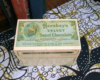 Hershey's Velvet Sweet Chocolate Metal Tin Recipe Box
