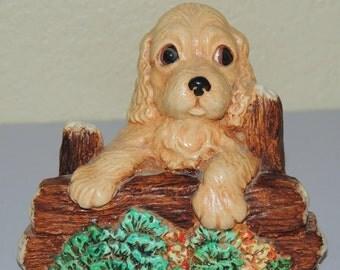 Sandy hand painted Woodlander Stoneware figurine, made in England