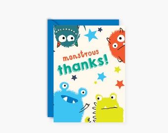 Monsters THANK YOU notes, cards