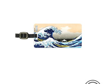 Luggage Tag Great wave Off Kanagawa Luggage Tag Printed Personalized Backs Luggage Tag - Full Metal Tag Single Tag