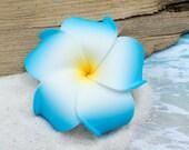 Blue Plumeria Hair Clip, 3 inch, Pink   Flower Clip,    Hair Accessory