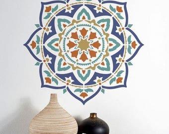 Mandala Stencil Rangoli - Mandala Stencil for Quick and Easy DIY Home Improvement - DIY Wall Art - Better Than Decals