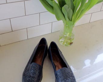 Shoes Vintage Size 9 Leather Woven Loafers