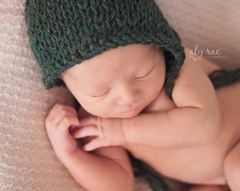 Newborn Hat Boy, Newborn Photo Prop Boy, Newborn Boy Hat, Newborn Bonnet, Newborn Christmas Hat, Newborn Props Boy, Knit Newborn Hat