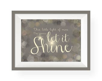 This Little Light of Mine   Giclee