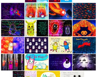 Set of 23 Mini Art Prints