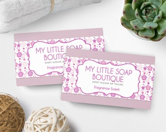 Soap Labels - Floral Soap Labels - Soap Packaging - Soap Wrapper - Cosmetic Labels -  Printable Label Design - Product Labels - SW-7