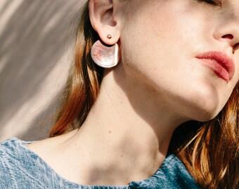 Circle Jacket Copper Earrings