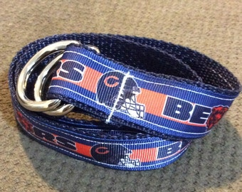 Chicago Bears Ribbon Belts