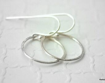 Christmas Gifts for Her , Small Hoop Earrings , Sterling Silver Hoop Earrings