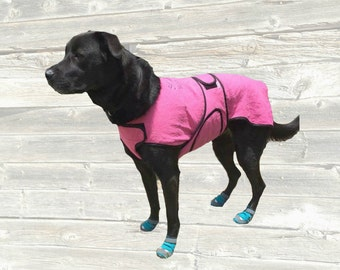 Dog Cool Coat, custom made just for your dog with tummy cooler for extra cooling