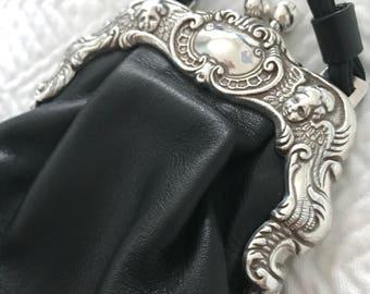 Vintage Black Clutch, Black Purse, Black Clutch, Black Clutch, Evening Bag, Pouch, Vintage Clutch, Vintage Purse, Clutch, Purse, Satchel