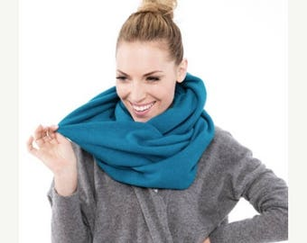 SALE - Electric Blue LeMuse wool shawl