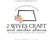 Reserved for Lindsey - North Dakota Logo, Vendor Logo, State Logo, Rose Logo, Watercolor Logo, Craft Logo, Premade Logo, Custom Logo