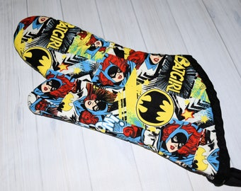 Batgirl Inspired Oven Mitt/ Home Decor/ Kitchen Decor/ Hostess Gift/ Wedding Gift/ Gift for her/ DC/ Mother's Day/ Wedding gift