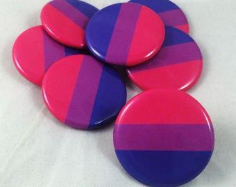Bi, Bi Flag, Bisexual, Bisexual Flag, Bisexual Pride Flag, Pride, Pride Flag, Bi Pride, Bisexual Button, LGBTQ+, Pink Purple Blue Button