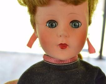 Vintage Valentine High Heel Doll in Original Box with Original Clothes 1950's Collectible Mid Century