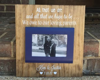 Mother Of The Bride Gift ~ Mother Of The Groom Gift ~ Wedding Gift For Parents ~ Wedding Frame ~ Gift From Bride ~ Parents Of The Bride