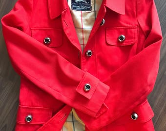 Vintage Burberrys Red Trench Coat