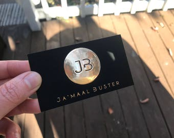 Thick Gold Foil Business Cards | Makeup Artist, Hairstylist, Interior Designers, Photographer, Wedding Planner, Microblading, Model