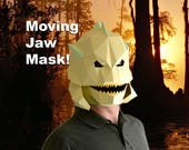 Make Your Own Paper Creature from the Black Lagoon Mask with Moving Jaw! - Halloween Mask | DIY Paper Mask | DIY Mask | Fish Man Mask