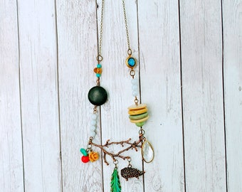The Forest Wanderer Necklace, Boho necklace, nature inspired, Bohemian jewelry