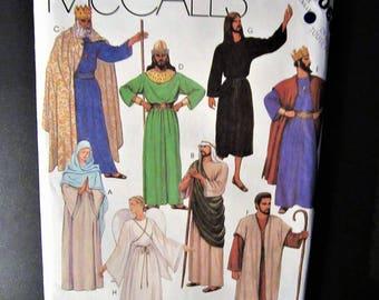 McCall's 2066 Pattern Adult Nativity Christmas Costume King, Shepherd Size XS