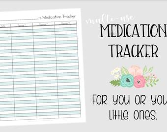 MEDICATION TRACKER - Instant Download - PDF