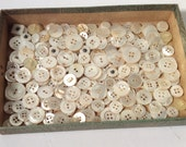 Large Lot of Mother of Pearl Buttons - assorted sizes