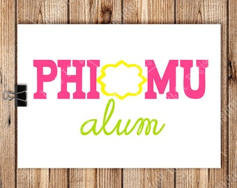 PHI MU ALUM, Digital Cut Files