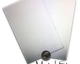 "14 gauge Aluminum Metal Sheet 6"" x 4"" - Make stampings, cut shapes, practice - Buy 1 get 1 FREE"
