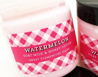 Watermelon Lotion, Hand and Body Cream, Moisturizer, Melon, Honeydew, Mango, Papaya