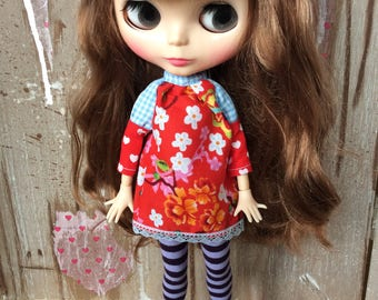 OOAK Blythe dress flowers 2