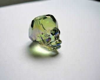 Crystal faceted skull - 1  pcs - 20mm - Mystic Aqua rainbow  - SFB6