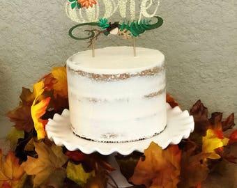 One Pumpkin  Cake Topper. Pumpkin Cake Topper. First Birthday Cake Topper
