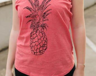 Pineapple fair & organic Tank Top _ red ethicalfashion ilovemixtapes