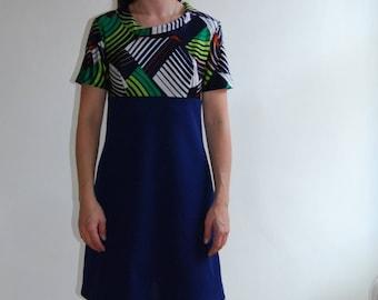 vintage 60's mod navy mini dress