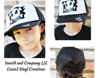 Jack Skellington Crossbones Trucker Hat,Personalized Jack Skellington Trucker Hat,Adult and Kids Jack Skellington Trucker Hat,Jack Crew Hat