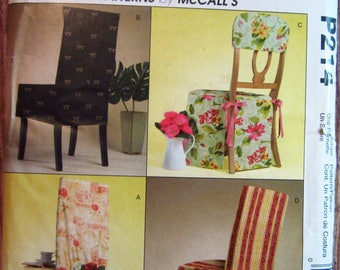 Easy Chair Covers For Standard Chairs McCalls Pattern P214/M4482 UNCUT