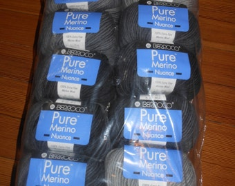 Pure Merino Nuance- Color 8634 Black and Gray
