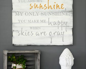 You Are My Sunshine Sign, Sunshine Artwork, Rustic Sign, Wooden Custom Sign