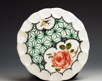Keks Tellerchen (cookie plate), handpainted porcelain