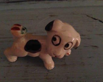 Sweet Dog with Lady Bug figurine