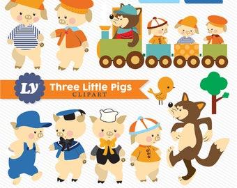 Three Little Pigs Clipart, SVG Three Little Pigs, Three Little Pigs Clipart, Three Little Pigs, Vintage Three Little Pigs, Little Pigs Art