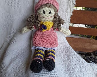 Crochet Doll 110, Sugar Daisy Dolls, CbbCreations, Rag Doll, Stuffed Doll