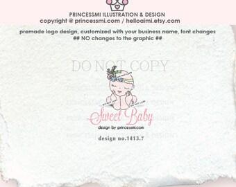 1413-7  Newborn logo design, baby logo design, Photography logo, BABY boutique logo watermark design by princessmi