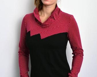 black red longsleeve Polka Dots STADTKIND