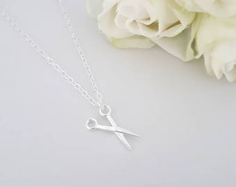Dainty Sterling Silver Scissor Necklace, Scissor Pendant, Sewing Necklace, Sewing Jewellery, Hobby, Dressmaking, Sewing, Gifts for Her